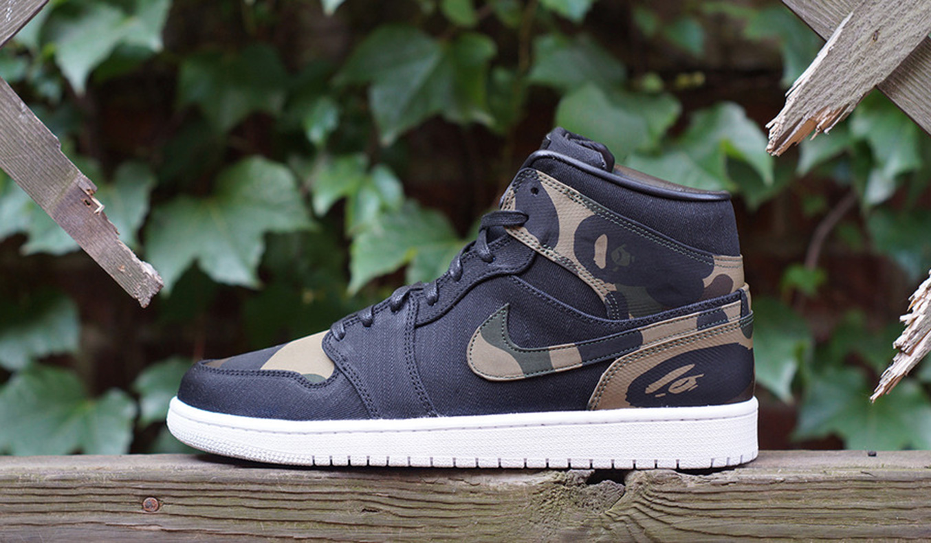 JBF CUSTOMS COMBINES BAPE AND THE AIR JORDAN 1