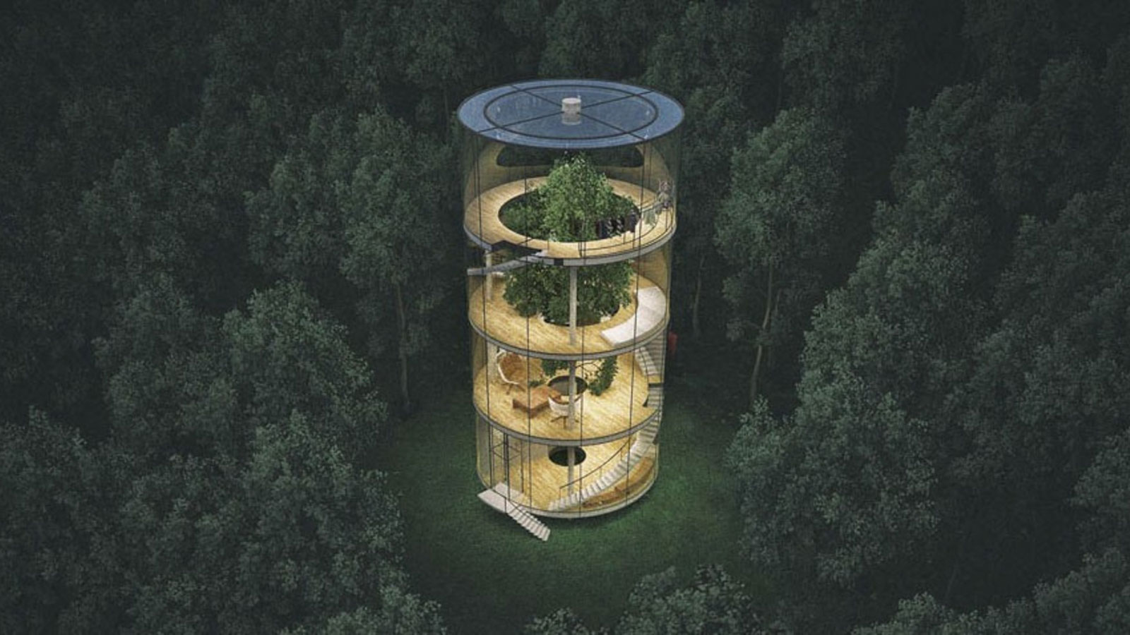 THE TUBULAR TREE HOUSE BY AIBEK ALMASSOV