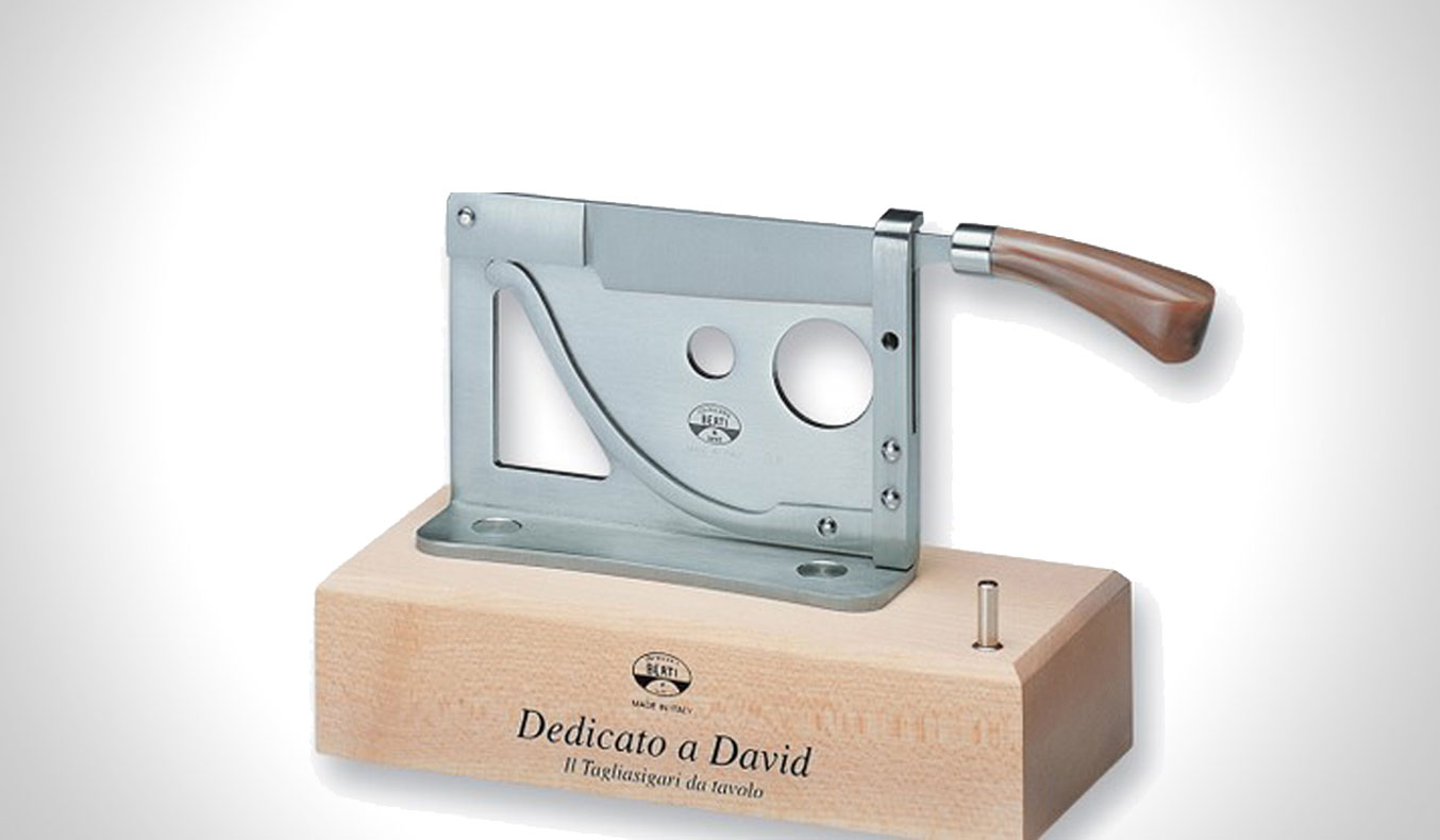 DEDICATO A DAVID TABLETOP CIGAR CUTTER