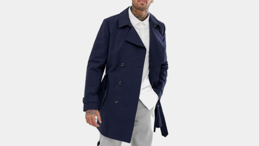 ASOS Double-Breasted Best Mens Trench Coat