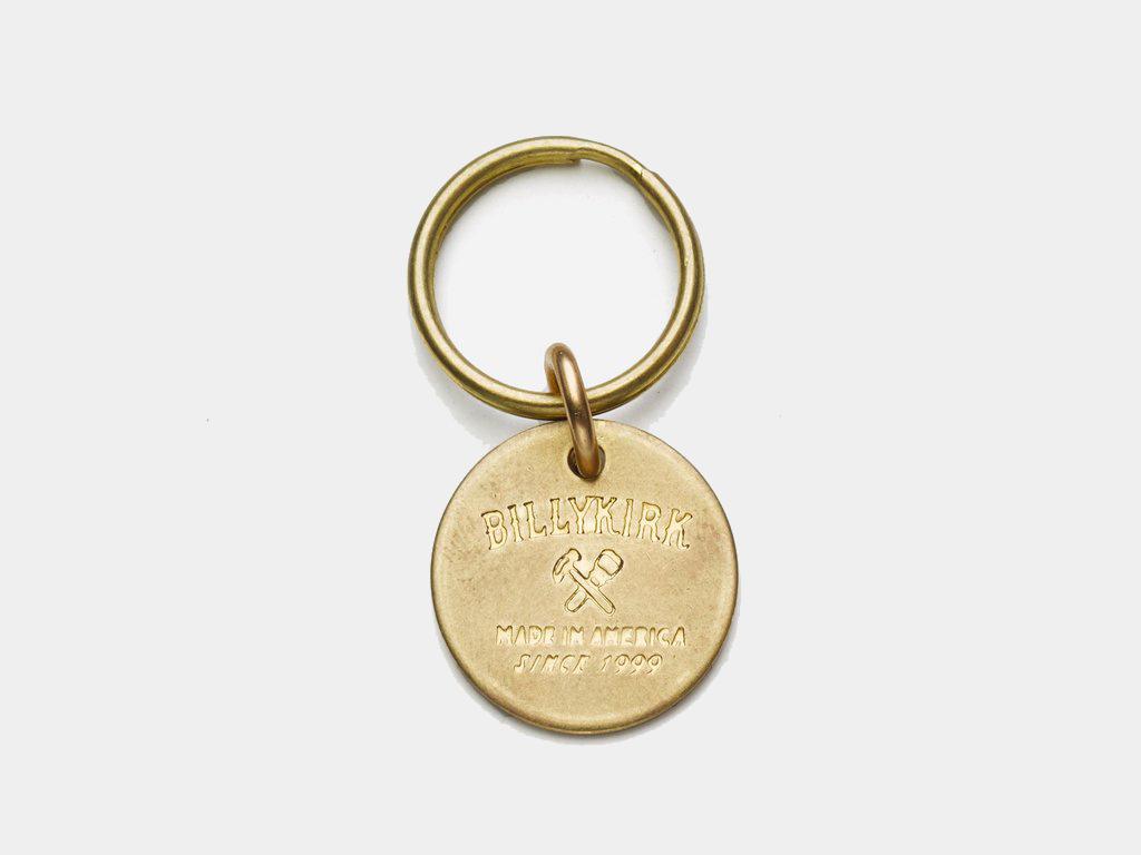 Billykirk Round Brass Key Tag | best edc keychains
