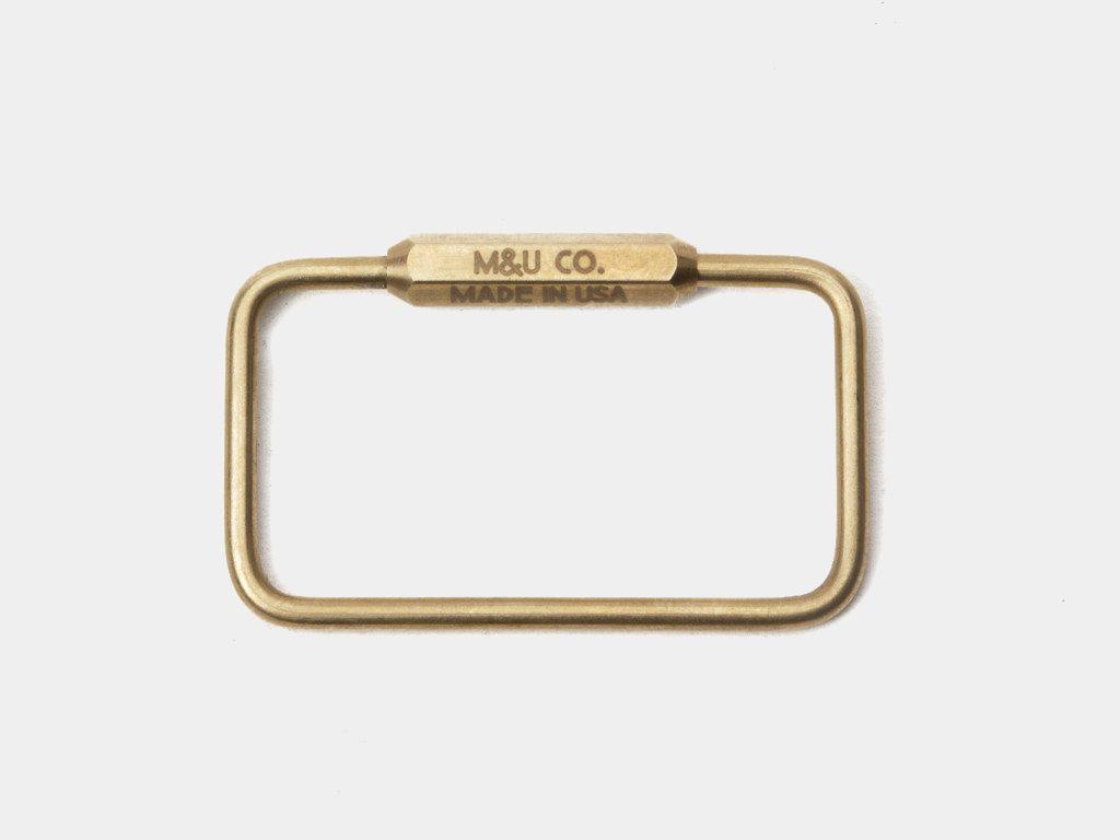 M&U Co. Rectangle Keyring