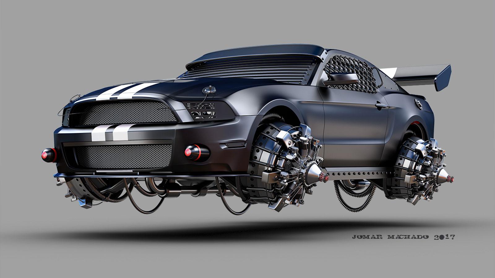 The Futuristic Vehicles Of Jomar Machado