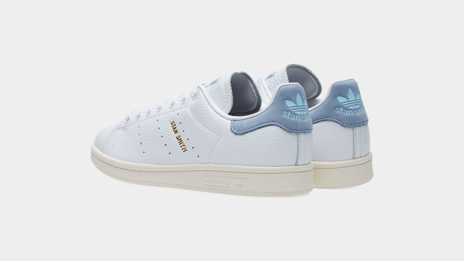 Adidas Originals Stan Smith 'Tumbled Leather' - White & Tactile Blue