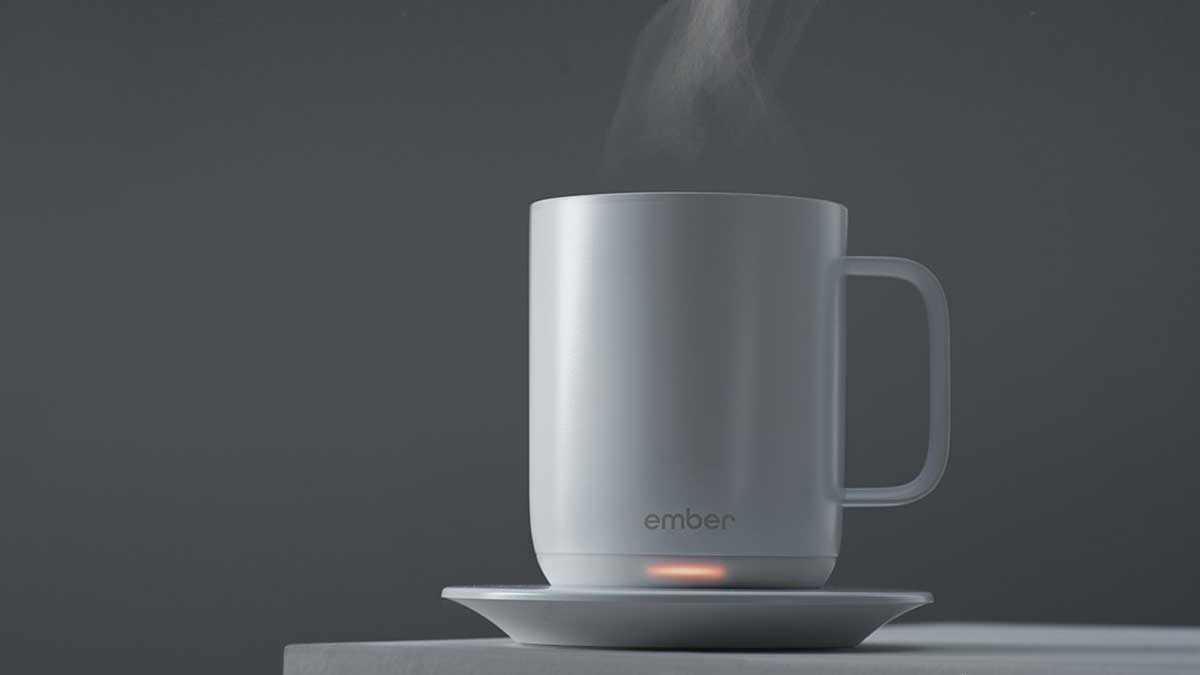 Ember Ceramic Mug Keeps Your Coffee Hot For Hours