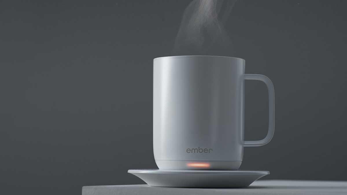 Ember Ceramic Mug Keeps Your Coffee Hot For Hours