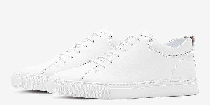 C.QP All White Mens Sneaker
