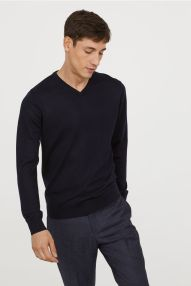 H-M V-Neck Merino Wool Sweater-1