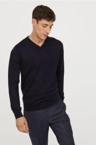 H-M V-Neck Merino Wool Sweater-1