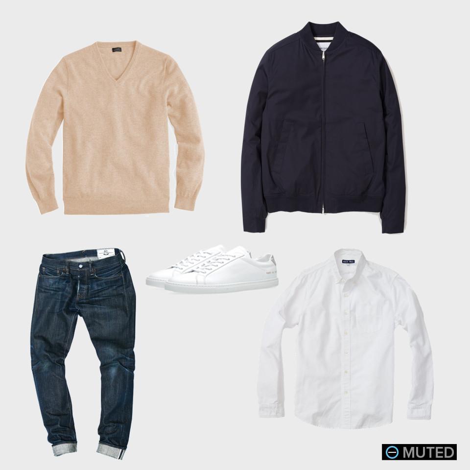 cashmere best men's v-neck sweater