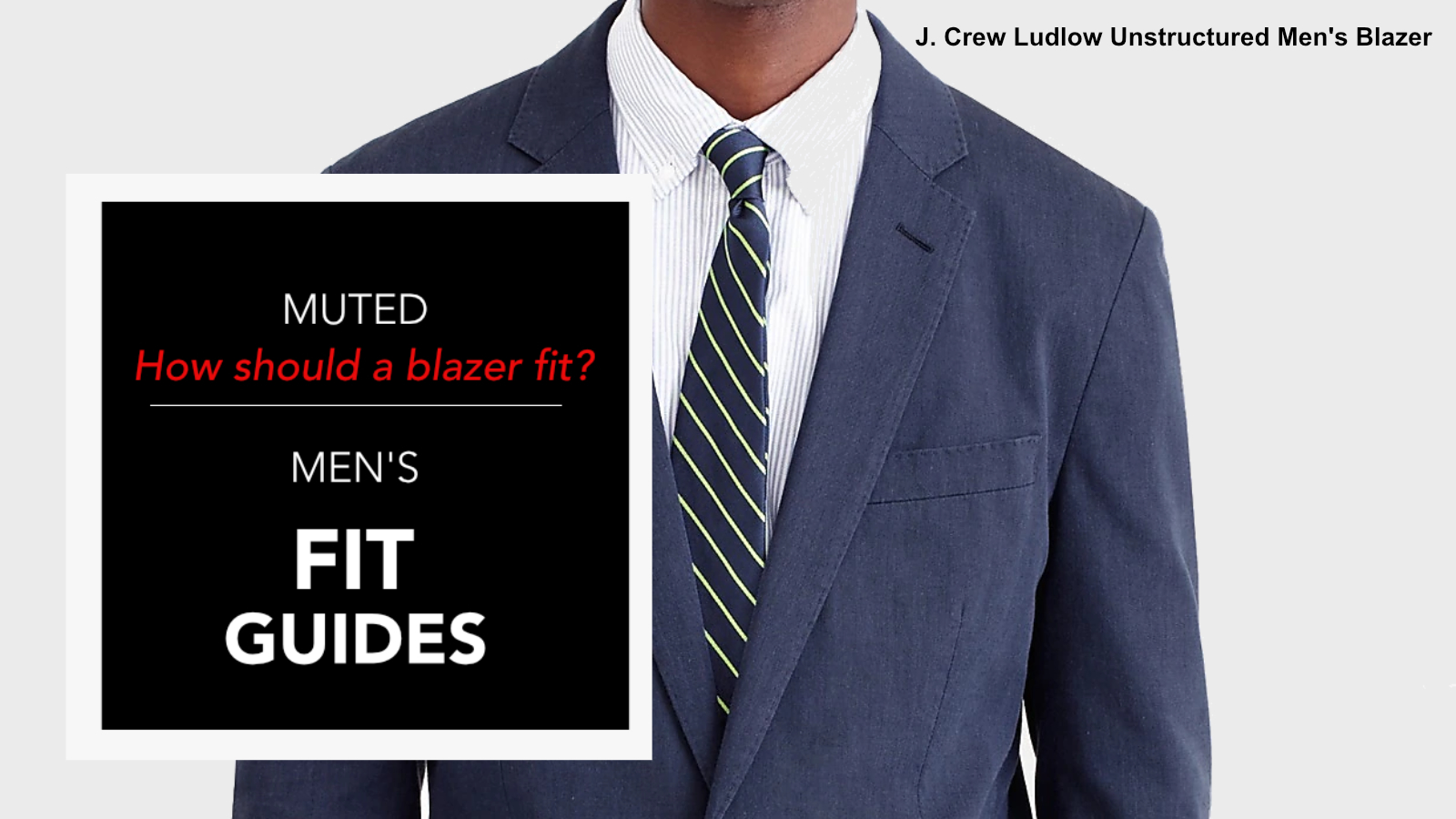 How should a men's blazer fit?
