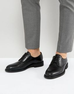 asos-Selected Homme leather derby shoes-1