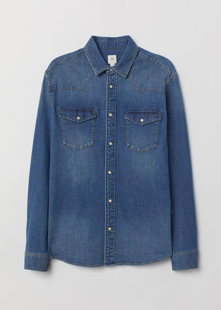 h&m best denim shirts for men