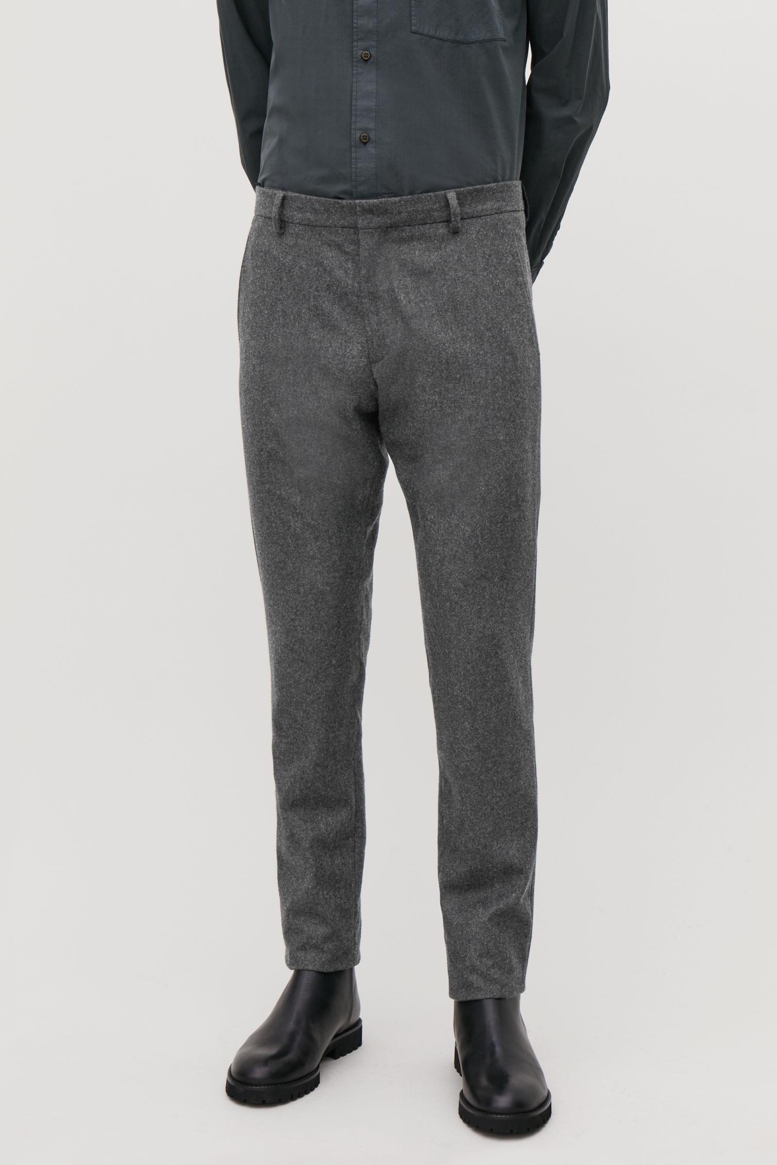 COS Slim Wool Trouser Men's Winter Fashion