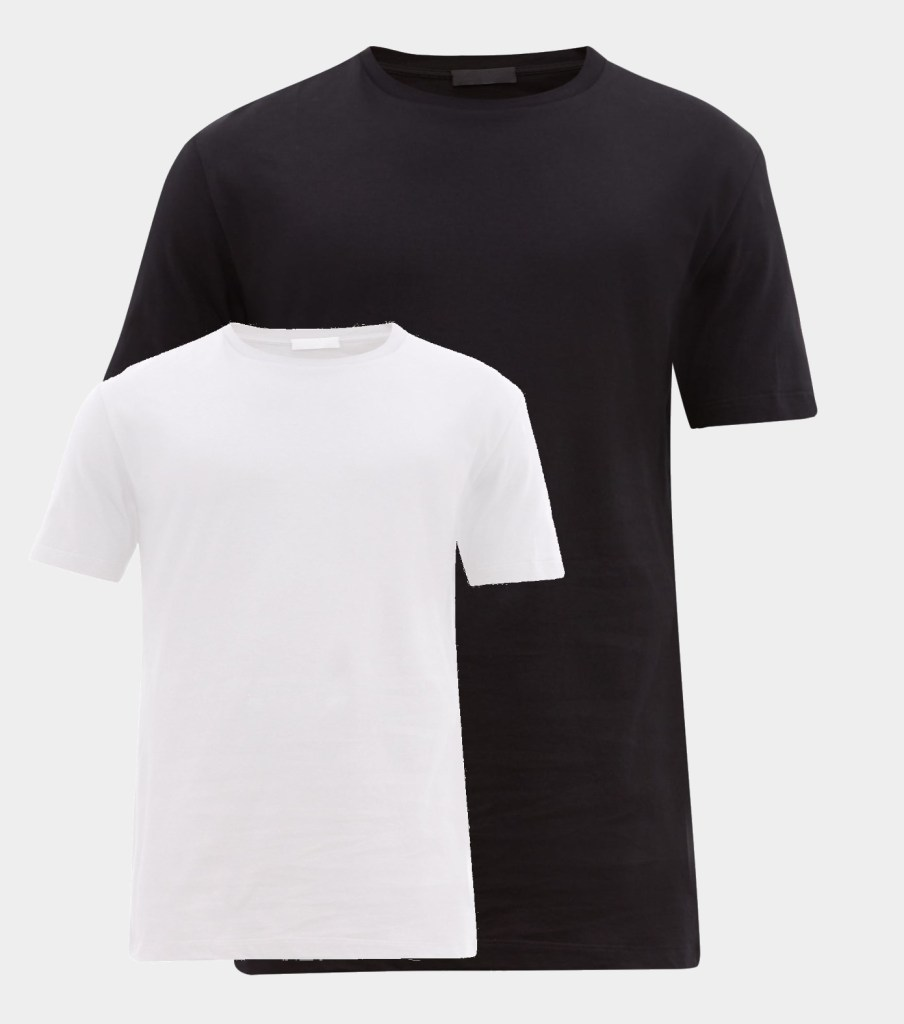 capsule wardrobe black & white t-shirts
