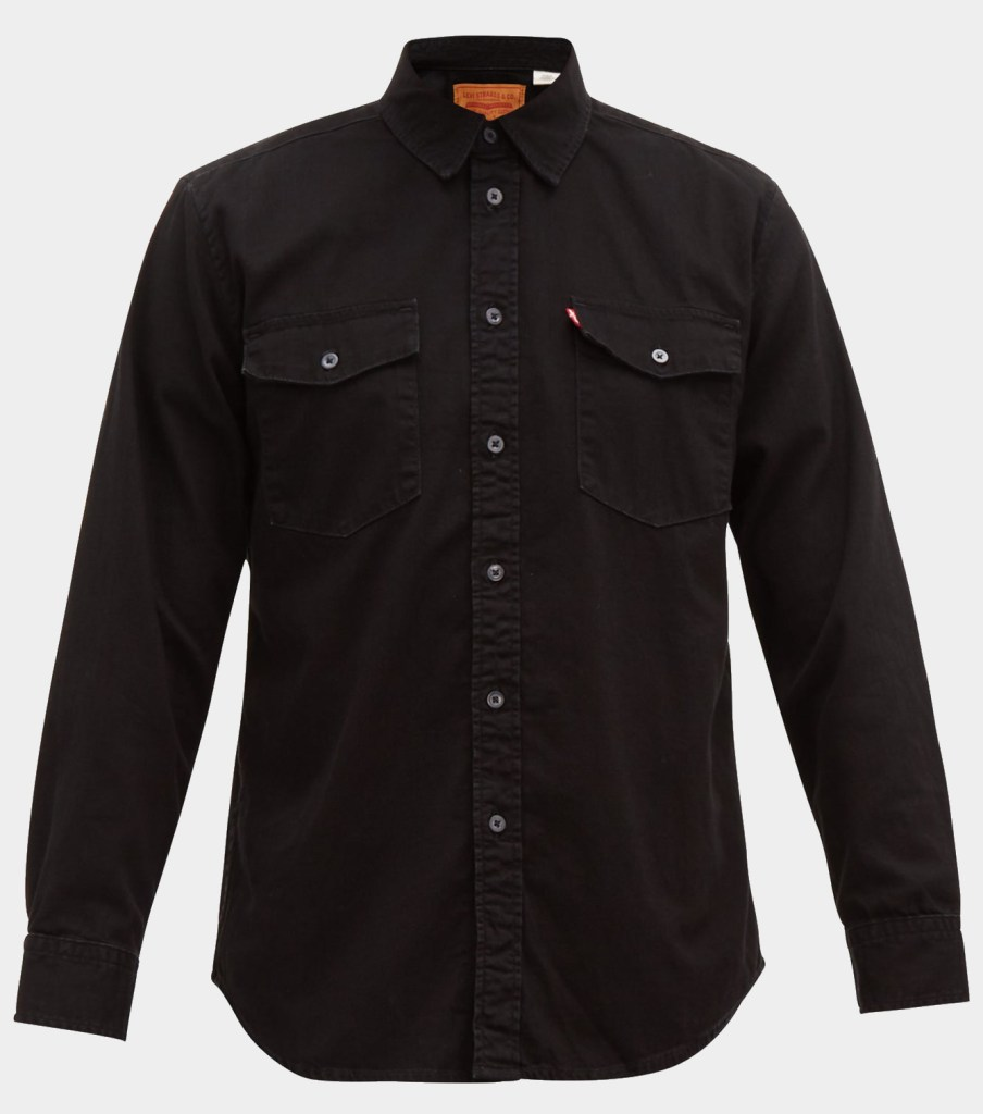 capsule wardrobe twill shirt black