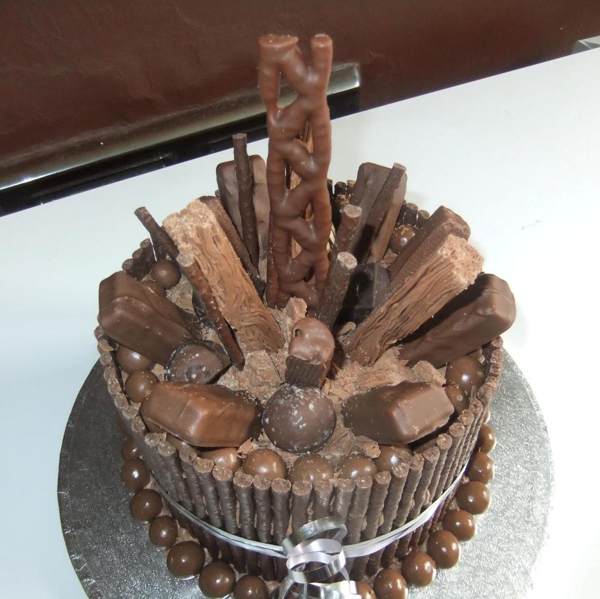 Chocolate Explosion Birthday Cake
