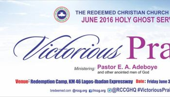 LIVE VIDEO: RCCG June 2018 Holy Ghost Service