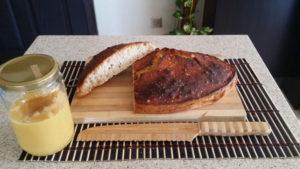ekşi maya ekmek bambu bıçak kazanozda ghee