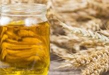 budağ tohumu yağı cam şişe, buğday tohumları be başakları