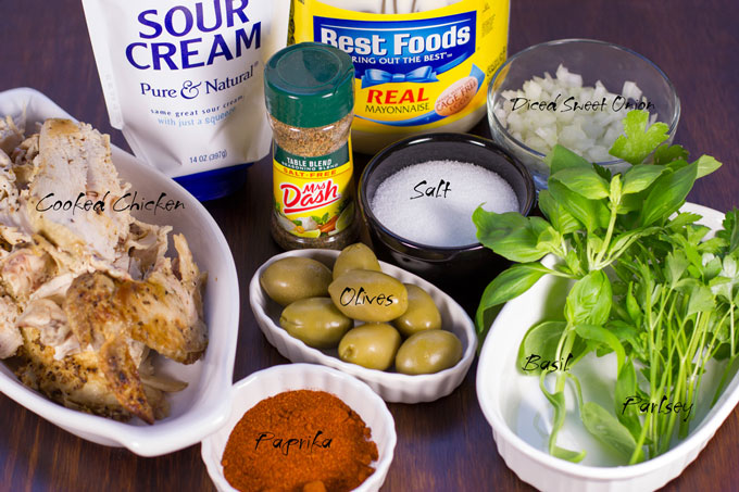 Ingredients for Lori's chicken salad
