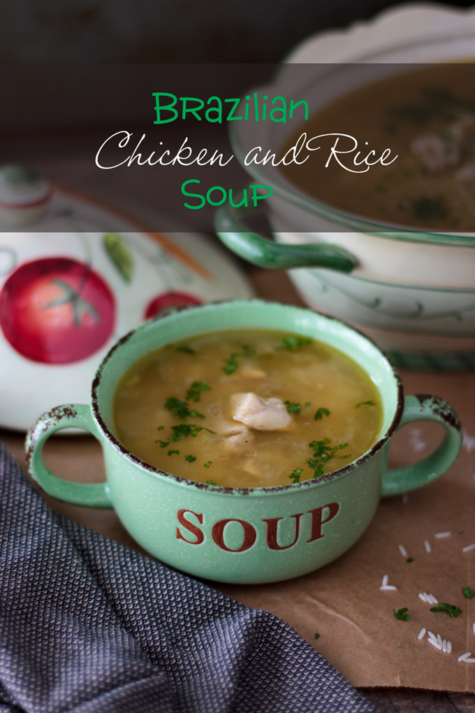 Brazilian Chicken and Rice Soup - Canja