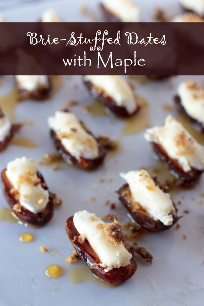 Brie-stuffed dates feature image with banner