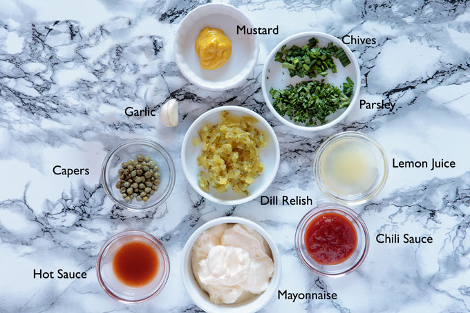 Ingredients for the remoulade