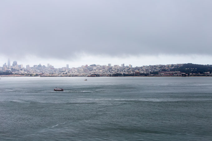 Northern California San Francisco Bay view of the city