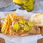 Iowa-Style Pork Tenderloin Sandwich