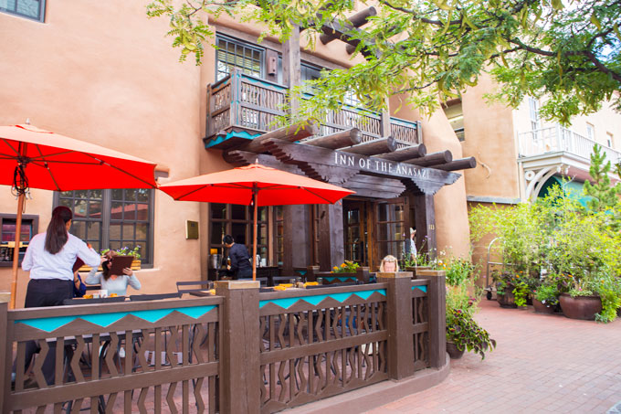 Hotel and restaurant in Old Town Santa Fe