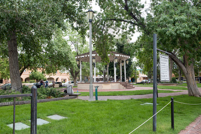 Square and gazebo in Old Town Albuquerque