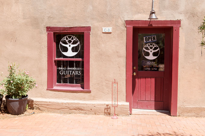 Guitar shop in Old Town Albuquerque