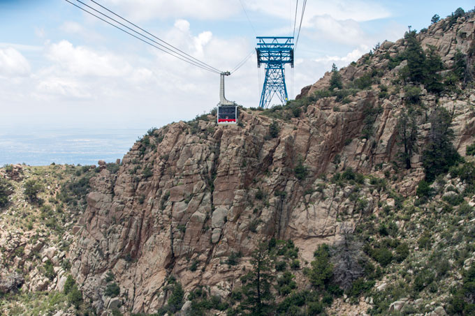 Tram coming down Sandia Peak