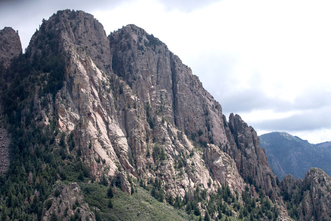 Rock face going up Sandia Peak
