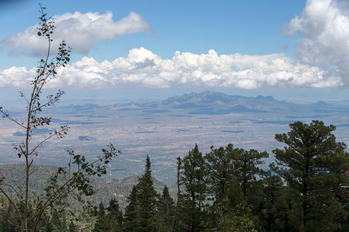 View atop Sandia Peak