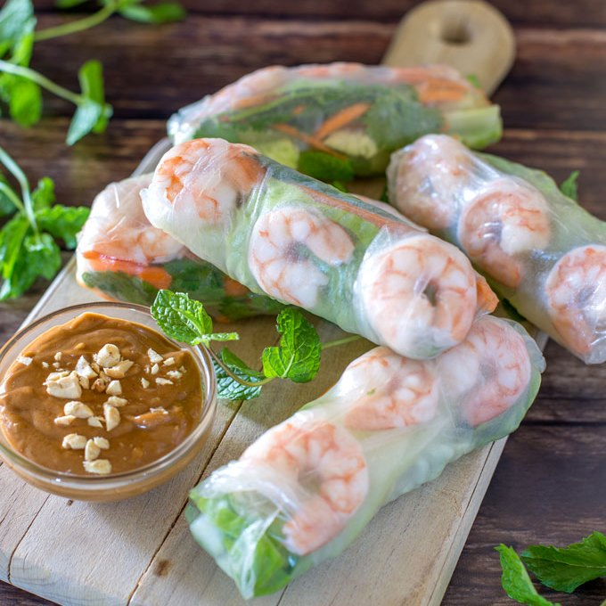 Low Carb Shrimp Spring Rolls
