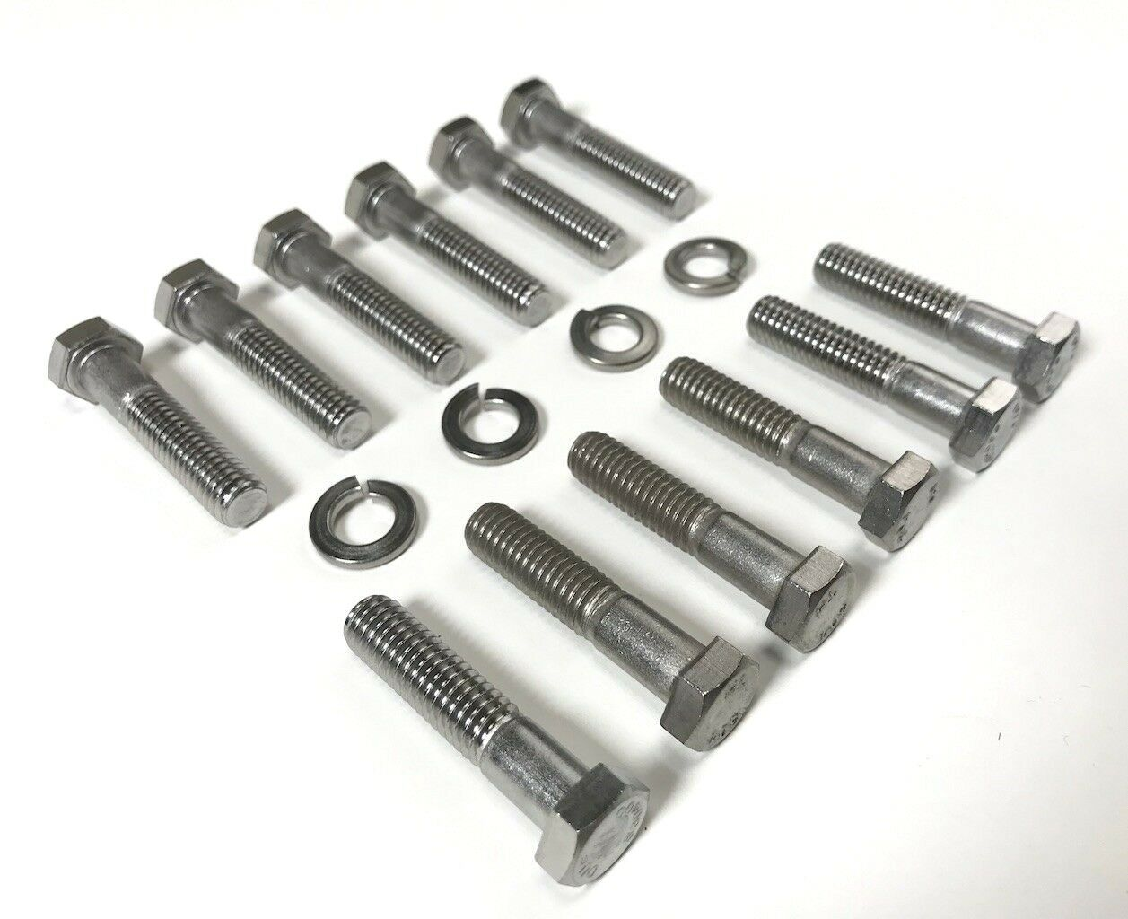 1955 1956 chevy v8 exhaust manifold bolt set stainless steel