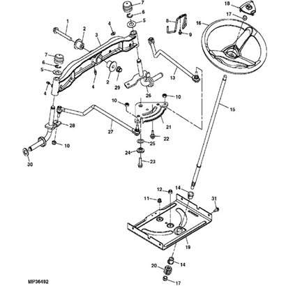 318 Engine Component Diagram John Deere 155c Lawn Tractor Parts