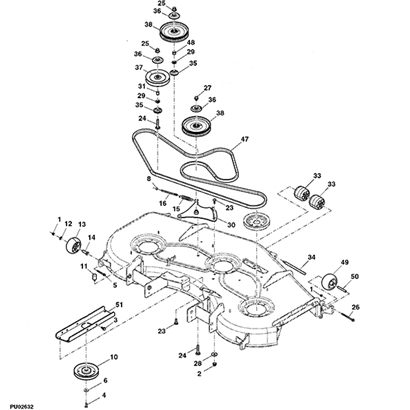 John Deere 997 Z Trak Mower Parts