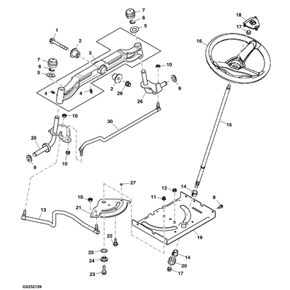john deere 125 lawn tractor parts diagram – periodic ... la 100 john deere lawn mower wiring diagram
