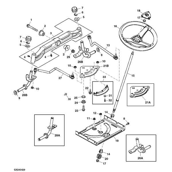 Diagram D100 Mower Belt Diagram