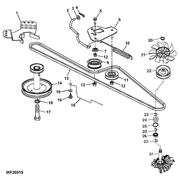 John Deere L100 Transmission Parts Diagram