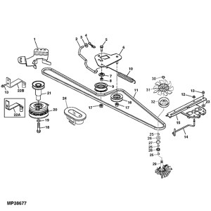 John Deere L120 L130 Transmisson parts Diagram