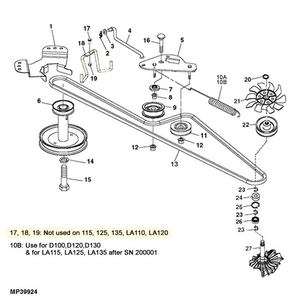 John Deere LA100 and D100 Series Transmission Diagram