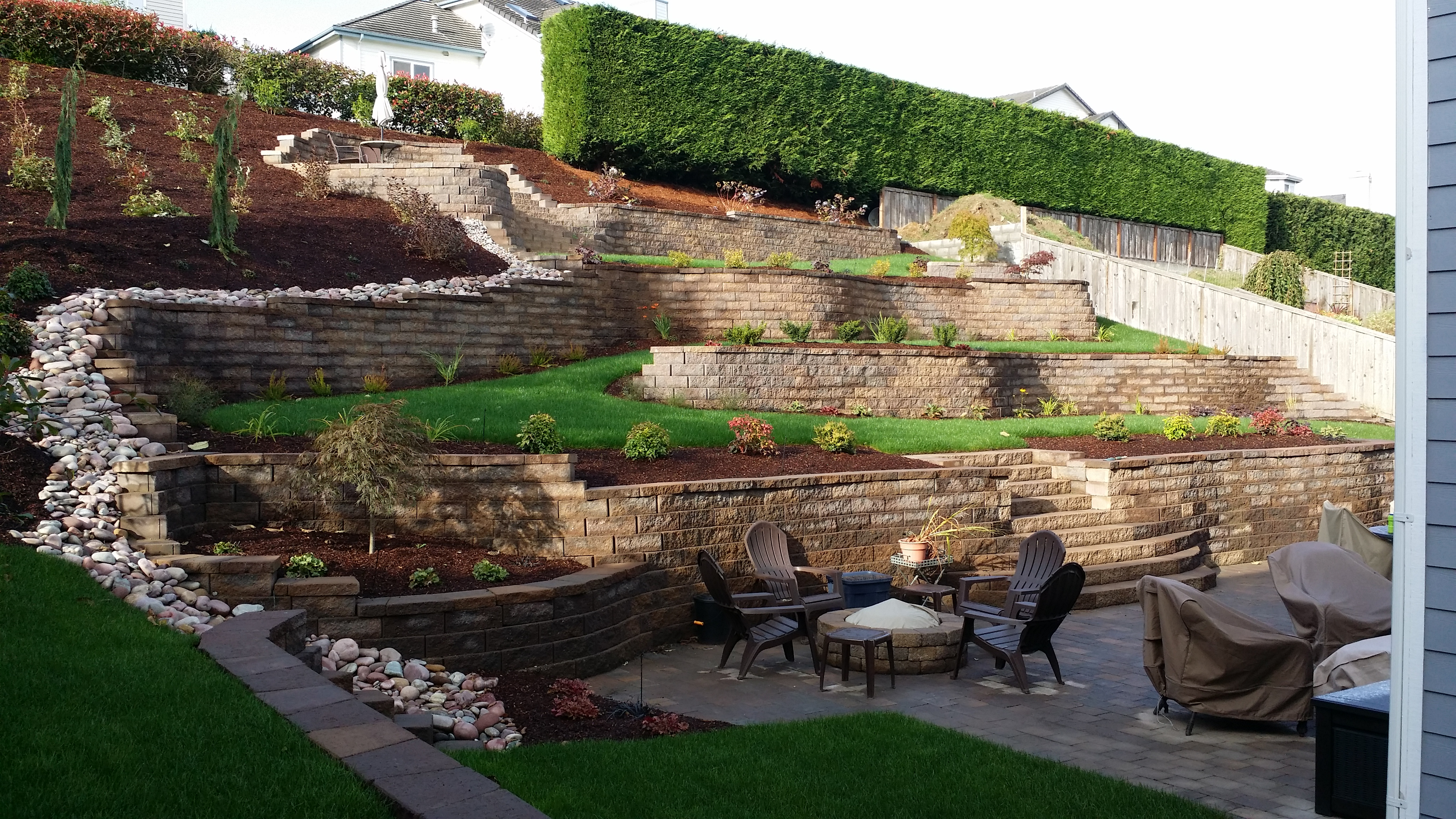 Make an Ugly Hillside Beautiful with Retaining Walls