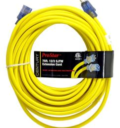 century wire cable 75 pro star 12 3 sjtw yellow lighted extension cord mutual screw supply [ 1267 x 1500 Pixel ]