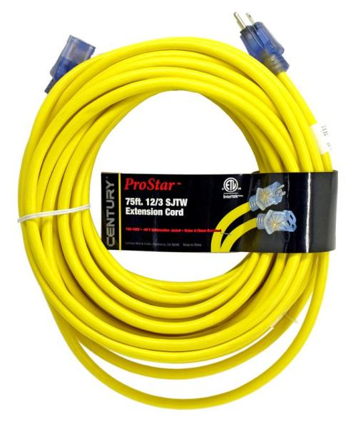 small resolution of century wire cable 75 pro star 12 3 sjtw yellow lighted extension cord mutual screw supply
