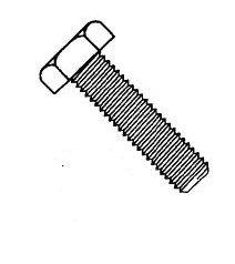 Metric Zinc Blue Coarse Thread 10.9 Steel Tap Bolts (Full