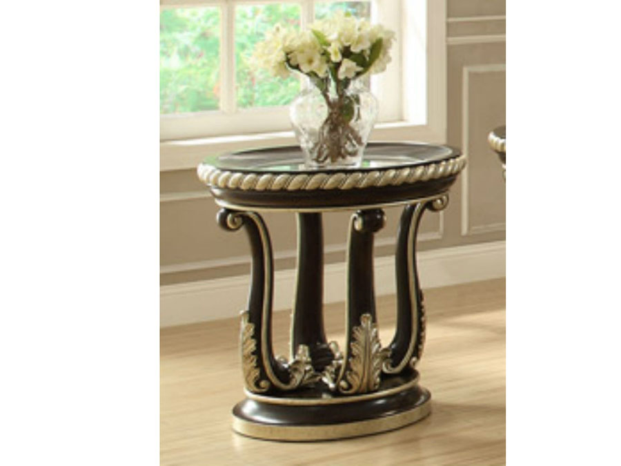 formal living room end tables small christmas decoration ideas classic round wood table glass top shop for affordable